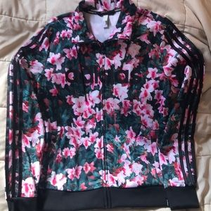 Adidas floral track suit. Cherry blossom print.